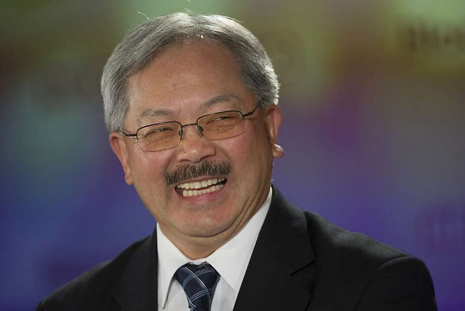 S.F. Mayor Ed Lee, left, will join first lady Michelle Obama for the president's speech. Photo: David Paul Morris, Bloomberg