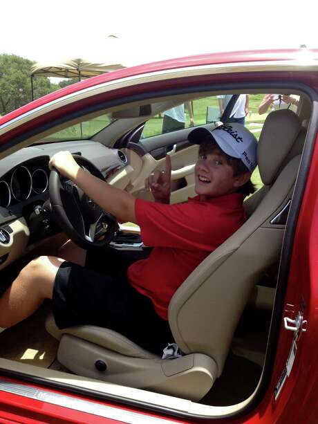 Thirteen-year-old Dalton Sisson's weekend included a hole-in-one at a charity tournament in Kerrville. Photo: Courtesy