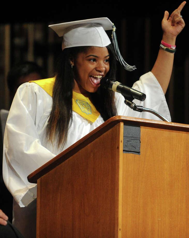 Marlakie Milton. Bassick High School graduation at the Klein Memorial Auditorium in Bridgeport, Conn. on Monday, June 24, 2013. Photo: Brian A. Pounds / Connecticut Post