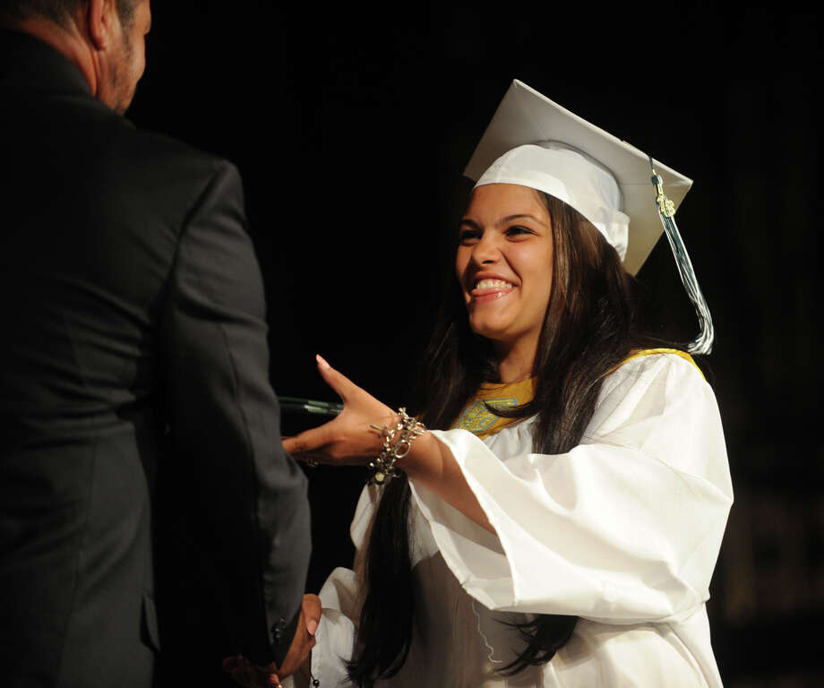 Lydia Guadalupe. Bassick High School graduation at the Klein Memorial Auditorium in Bridgeport, Conn. on Monday, June 24, 2013. Photo: Brian A. Pounds / Connecticut Post