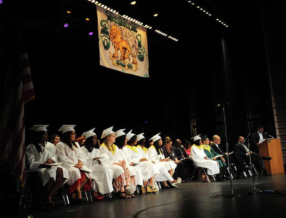 Bassick High School graduation at the Klein Memorial Auditorium in Bridgeport, Conn. on Monday, June 24, 2013. Photo: Brian A. Pounds / Connecticut Post