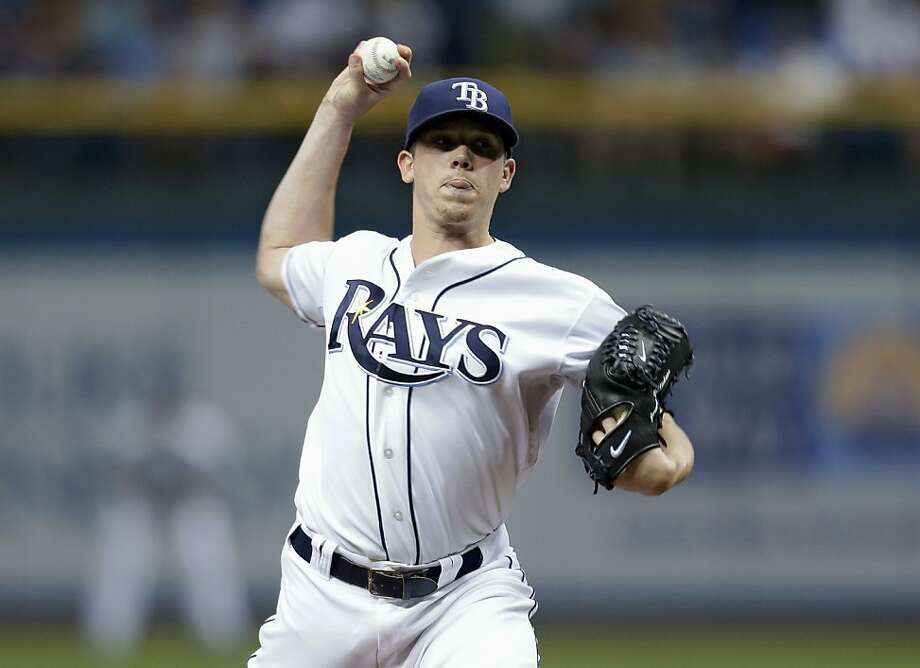 Jeremy Hellickson allowed one hit in seven shutout innings Monday night to lead the Tampa Bay Rays to a 4-1 win that ended the visiting Toronto Blue Jays' 11-game winning streak. Photo: Chris O'Meara, Associated Press