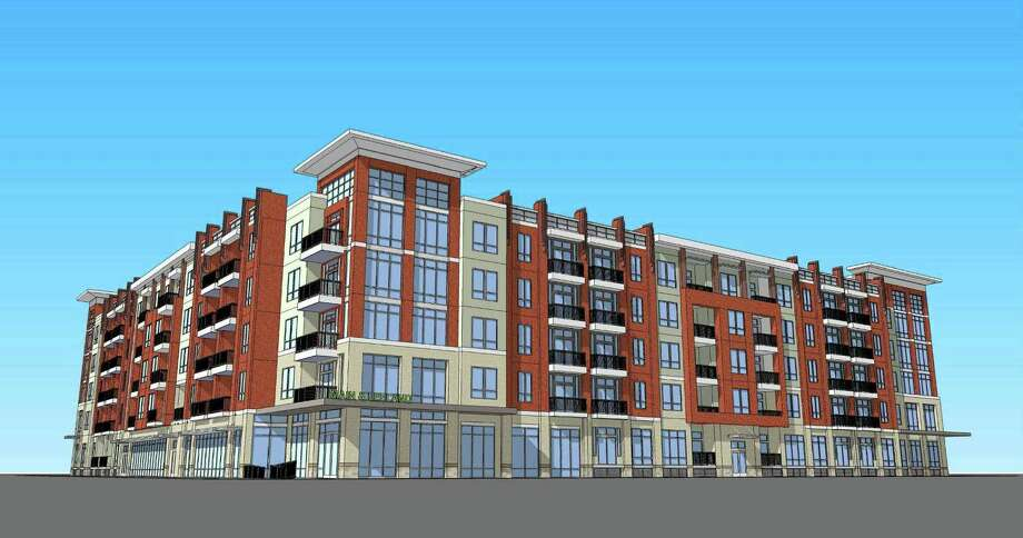 Alliance Residential Co. plans to develop a five-story apartment complex for the block bounded by Bell, Leeland, Main and Fannin. EDI International is the architecture firm. Photo: Courtesy Rendering