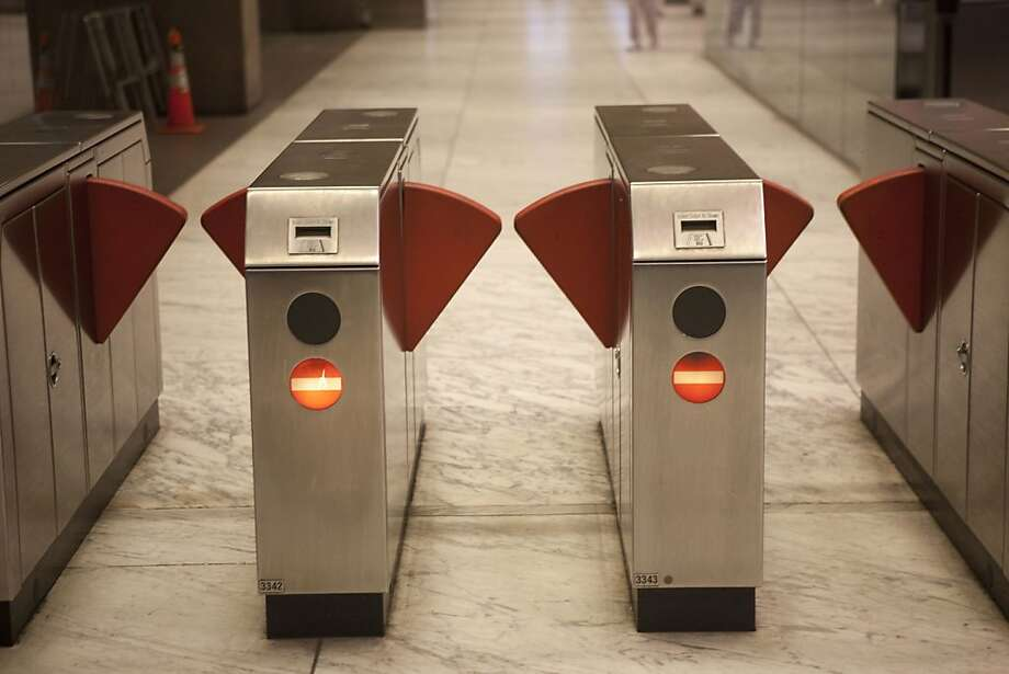 BART turnstiles could be dormant if the system suffers a workers' strike and is forced to cancel its 400,000 daily rides. The labor action could come Monday when union pacts expire. Photo: Stephen Lam, The Chronicle