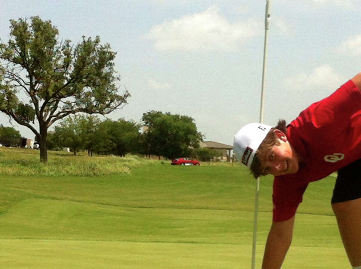 As the red sedan shimmered beside the tee box at Comanche Trace, a private course off Texas 173, Dalton hit a driver Saturday into a headwind on the 177-yard eighth hole and watched in shock as the ball rolled to the top of the green, then back and into the cup.