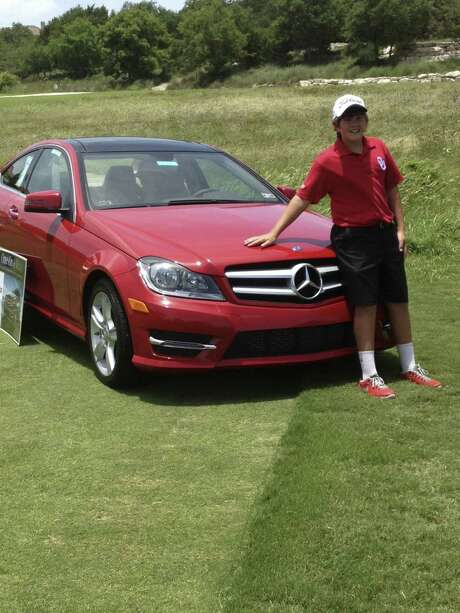 Dalton Sisson thoughthe won a Mercedes Benz for his hole-in-one in Kerrville. But it was a 27-month lease, and he said he wouldn't take the car: He'd be too young to drive it anyway. Photo: Courtesy Photo