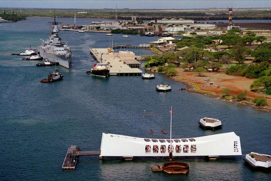 The decommissioned battleship has been moored at Pier Foxtrot, close to the USS Arizona Memorial, since 1998. Together they symbolize the beginning and the end of war in the Pacific.