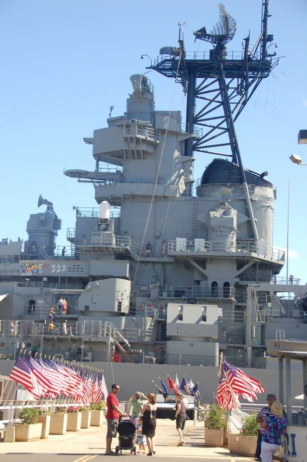 The size of the battleship -- nearly 888 feet long and 210 feet tall (from keel to mast top) -- is hard to comprehend until you visit.