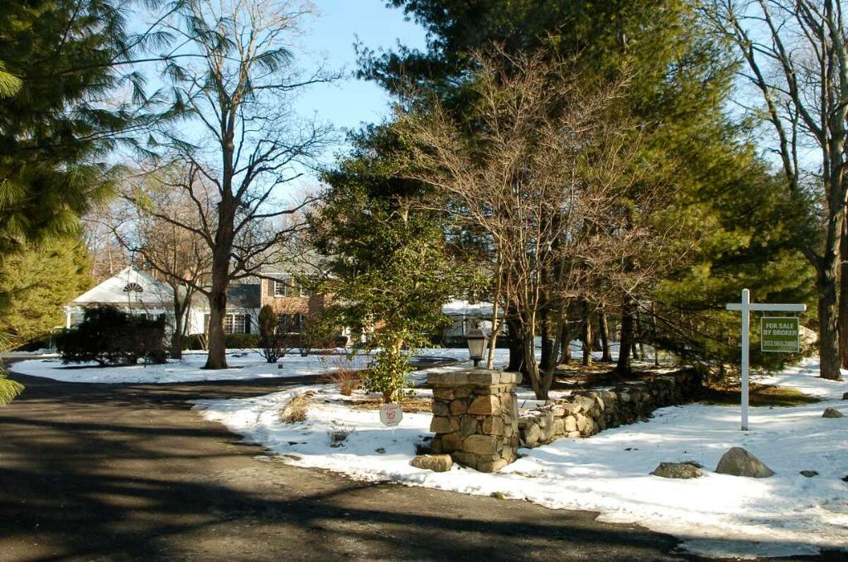Home for sale off Ponus Ridge Rd in New Canaan, Conn. on Thursday January 14, 2009.