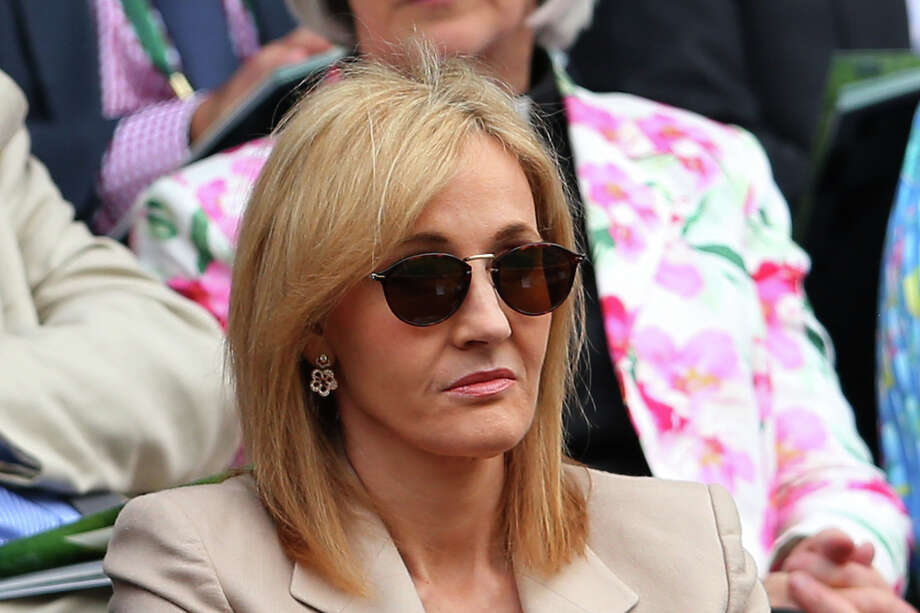 J.K. Rowling watches the Ladies' Singles first round match between Serena Williams of the United States of America and Mandy Minella of Luxembourg on day two of the Wimbledon Lawn Tennis Championships at the All England Lawn Tennis and Croquet Club on June 25, 2013 in London. Photo: Julian Finney, Getty Images / 2013 Getty Images