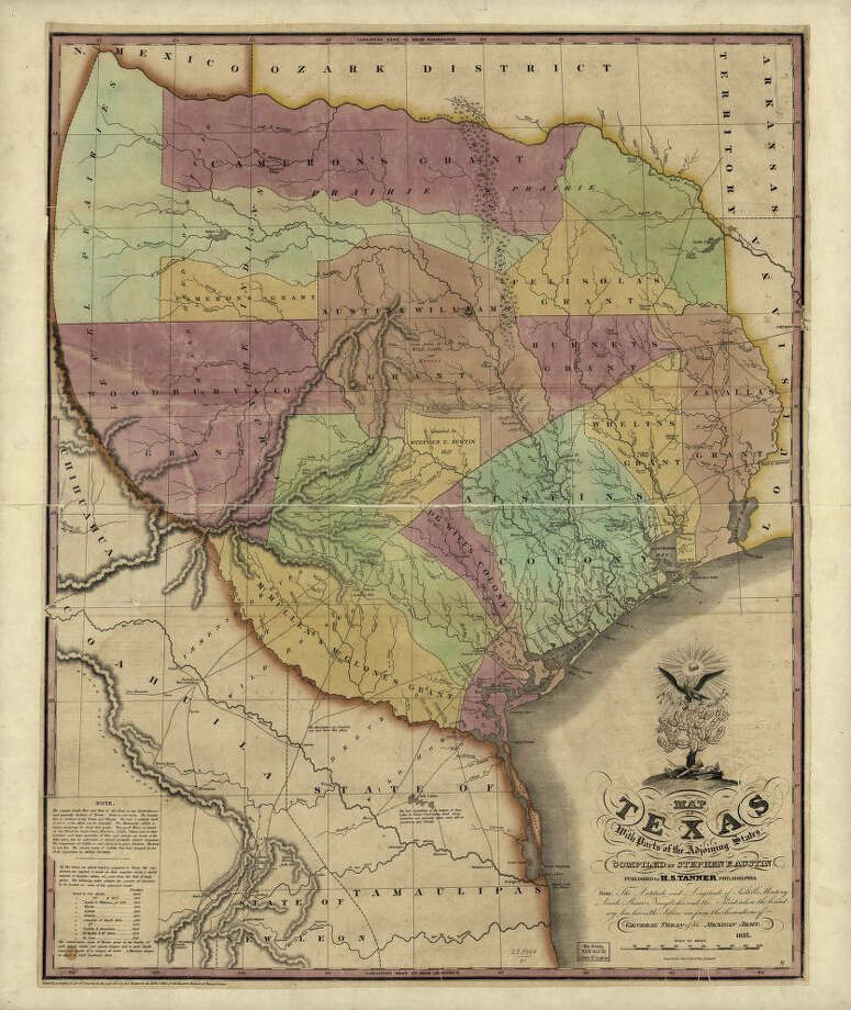 Texas, as it wasThis 1837 map of the Republic of Texas was one of the first produced showing the new nation and its foreign ally, the United States.