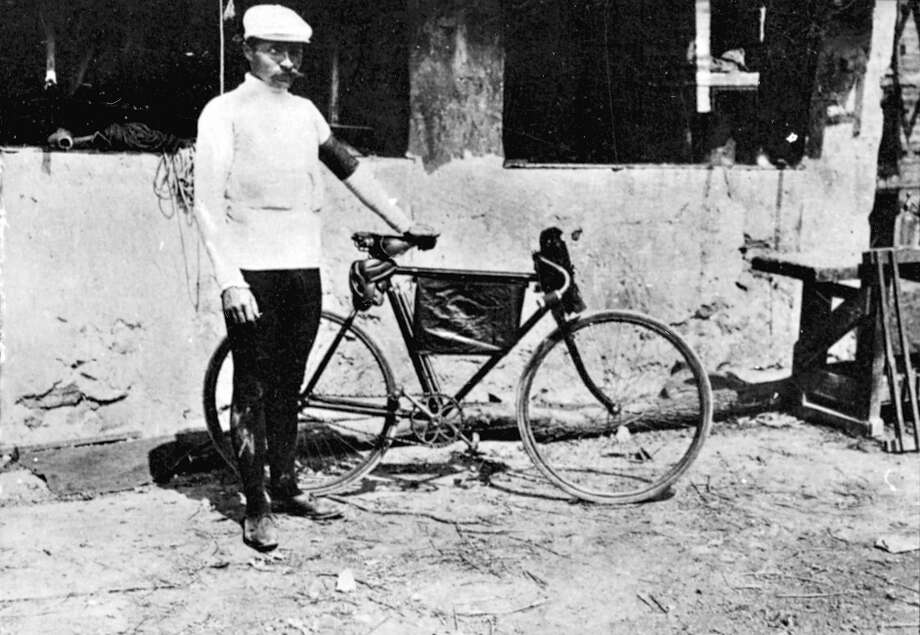 "This week marks the 100th running of the Tour de France, which began in 1903 and was halted during the World Wars. Here's a look back at the early years of ""Le Tour.""1903: French racing cyclist Maurice Garin, winner of the first Tour de France. Photo: Roger Viollet, Roger Viollet/Getty Images / 2007 Roger Viollet"
