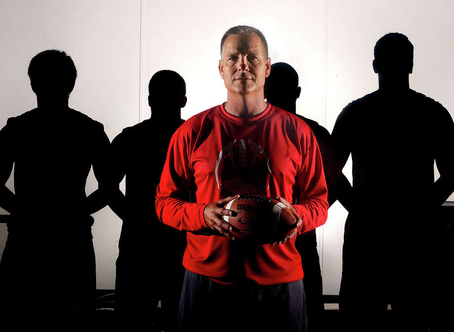 Calling it quits on retirement, Lumberton's new head football coach Larry Haynes is returning to the Raiders where served as head coach from 1989 to 1991. Photo taken Wednesday, June 19, 2013 Guiseppe Barranco/The Enterprise Photo: Guiseppe Barranco, STAFF PHOTOGRAPHER / The Beaumont Enterprise