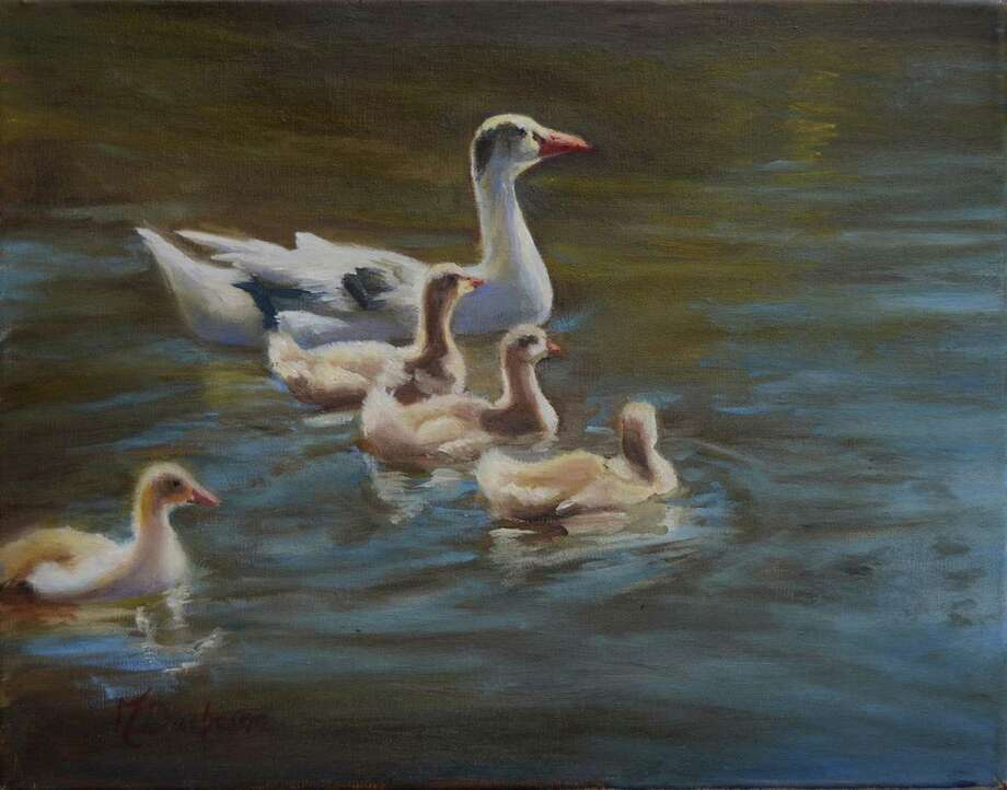 Classic oil paintings by Mireille Duchesne will be exhibited at the Geary Gallery of Darien through July. Photo: Contributed