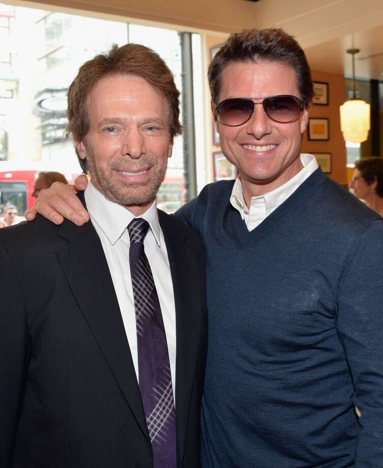HOLLYWOOD, CA - JUNE 24:  Producer Jerry Bruckheimer and actor Tom Cruise attend Legendary Producer Jerry Bruckheimer Hollywood Walk of Fame Star Ceremony on the Hollywood Walk of Fame on June 24, 2012 in Hollywood, California.  (Photo by Alberto E. Rodriguez/WireImage)