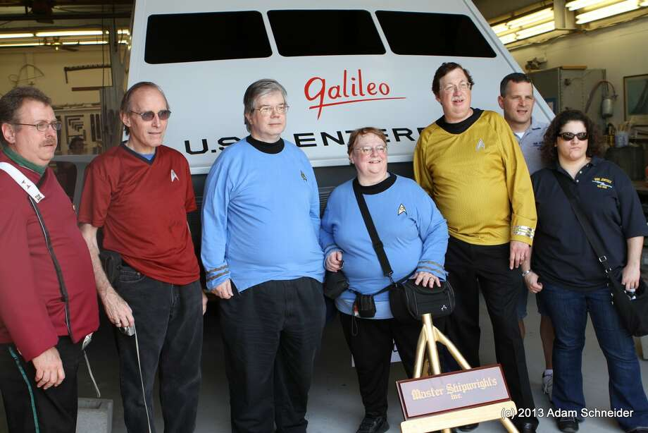 A 1967 episode of Star Trek featured the space ship Galileo. The prop was later purchased by fans of the series and restored. It is pictured June 22, 2013. (Photos submitted by Adam Schneider )  Saturday, June 22, 2013, in Houston. Photo: Chronicle / © 2013 Houston Chronicle