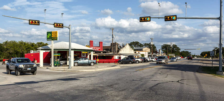 The intersection of Boerne Stage Road and the Interstate 10 access road at Leon Springs last July. More development will mean more traffic on the road, country officials said. Photo: File Photo