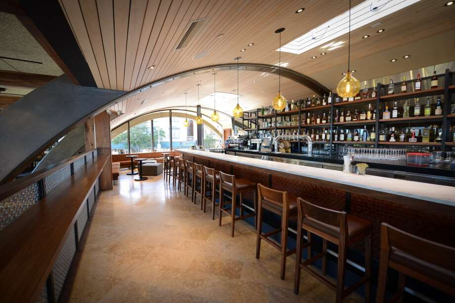 Barrel House Tavern: The curved wood ceiling gives the restaurant its name.