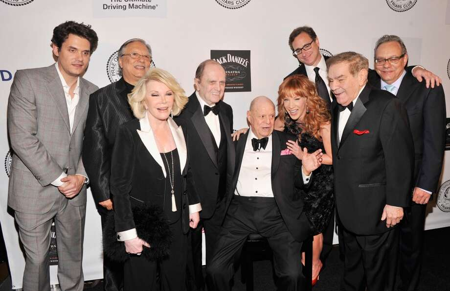 NEW YORK, NY - JUNE 24:  John Mayer, Arturo Sandoval,  Joan Rivers, Bob Newhart, Don Rickles, Kathy Griffin, Bob Saget, Freddie Roman and Lewis Black attend The Friars Foundation Annual Applause Award Gala honoring Don Rickles at The Waldorf=Astoria on June 24, 2013 in New York City.  (Photo by Stephen Lovekin/Getty Images)