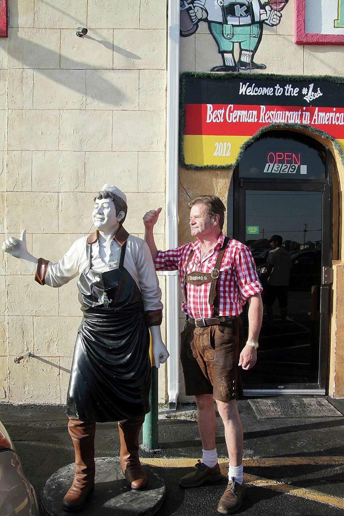 Johann Sitter poses for a photo outside his restaurant. King's Biergarten & Restaurant serves German cuisine and a selection of beers. Johann Sitter poses for a photo outside his restaurant. King's Biergarten & Restaurant serves German cuisine and a selection of beers.