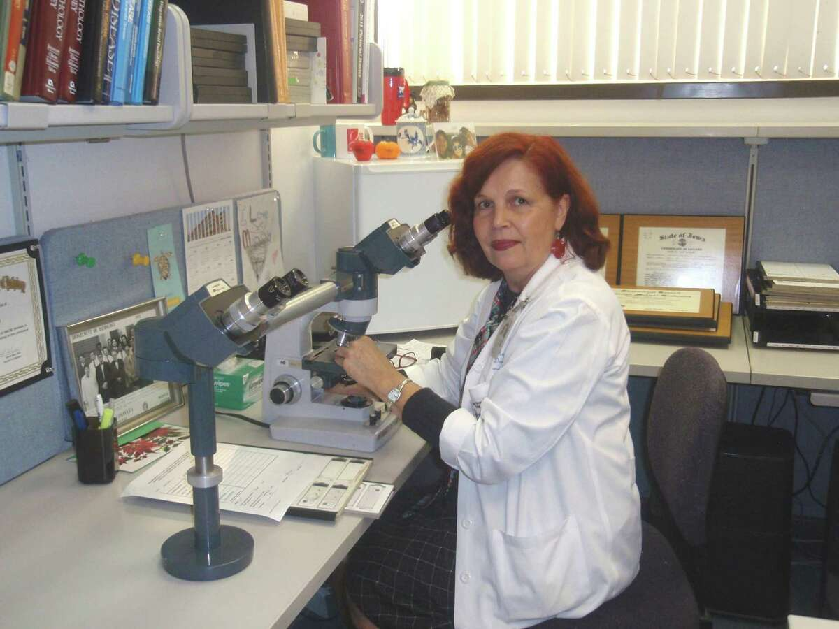 Dr. Regina Verani was inspired as an artist by what she sees under the microscope through her work as a renal pathologist.