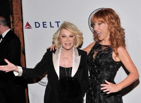 NEW YORK, NY - JUNE 24:  Comedians Joan Rivers and Kathy Griffin attend The Friars Foundation Annual Applause Award Gala  honoring Don Rickles at The Waldorf=Astoria on June 24, 2013 in New York City.  (Photo by Stephen Lovekin/Getty Images)