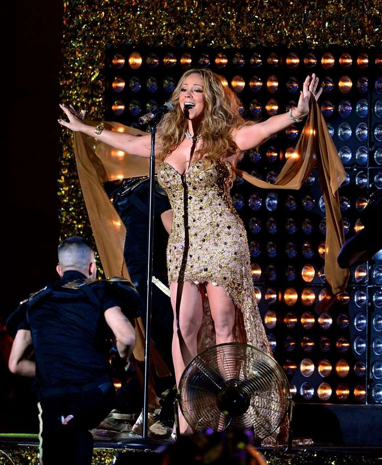 Mariah Carey performs during the 2012 NFL Kick-Off Concert in Rockefeller Center on September 5, 2012 in New York City.  (Photo by James Devaney/WireImage)