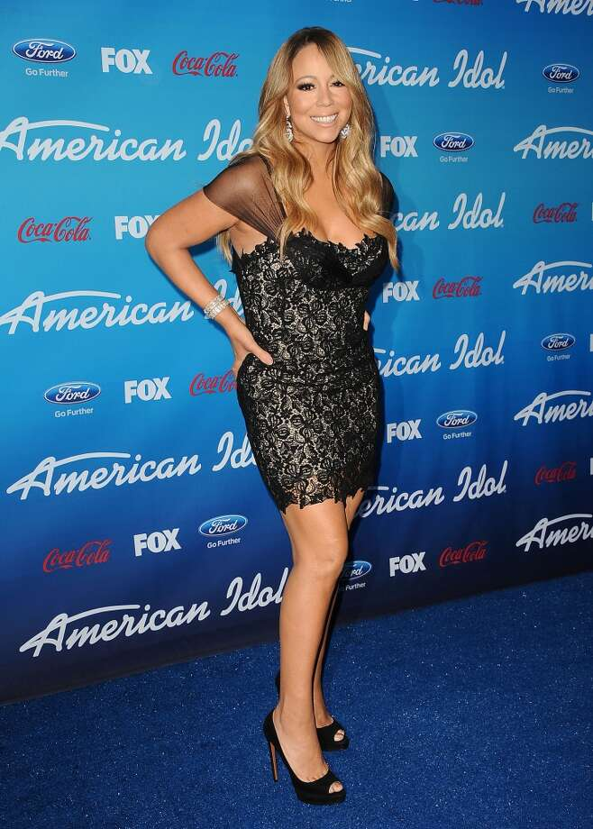 Mariah Carey attends the American Idol finalists event at The Grove on March 7, 2013 in Los Angeles, California.  (Photo by Jason LaVeris/FilmMagic)