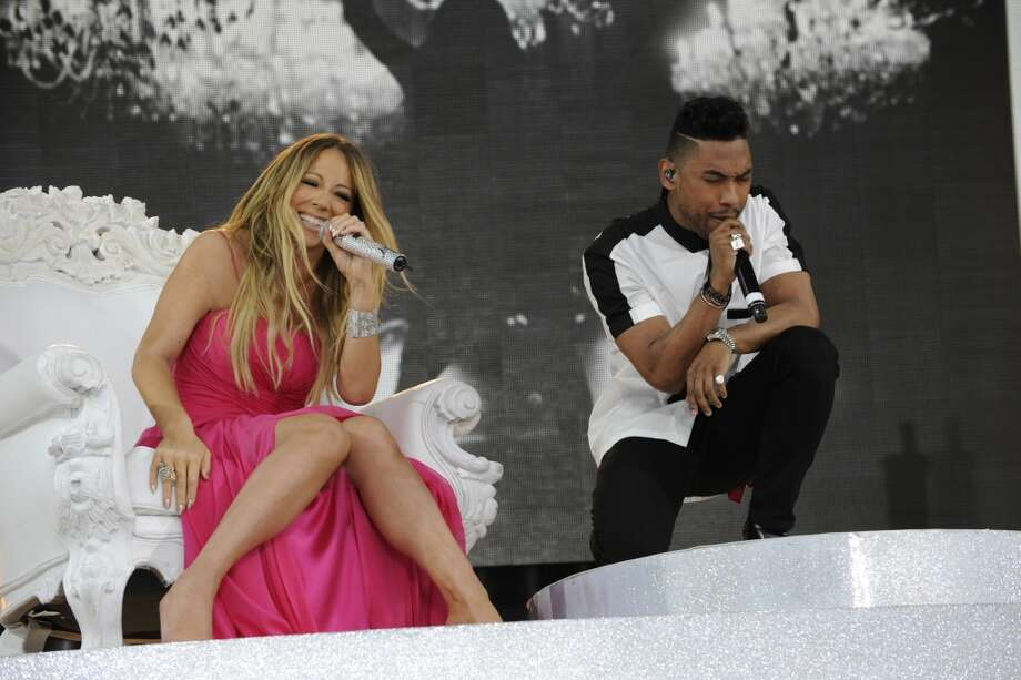 GOOD MORNING AMERICA - Mariah Carey, along with her special guest Miguel, performs at the GMA Summer Concert Series, from Central Park in New York City, on GOOD MORNING AMERICA, 5/24/13, airing on the ABC Television Network.   (Photo by Donna Svennevik/ABC via Getty Images)   MARIAH CAREY, MIGUEL