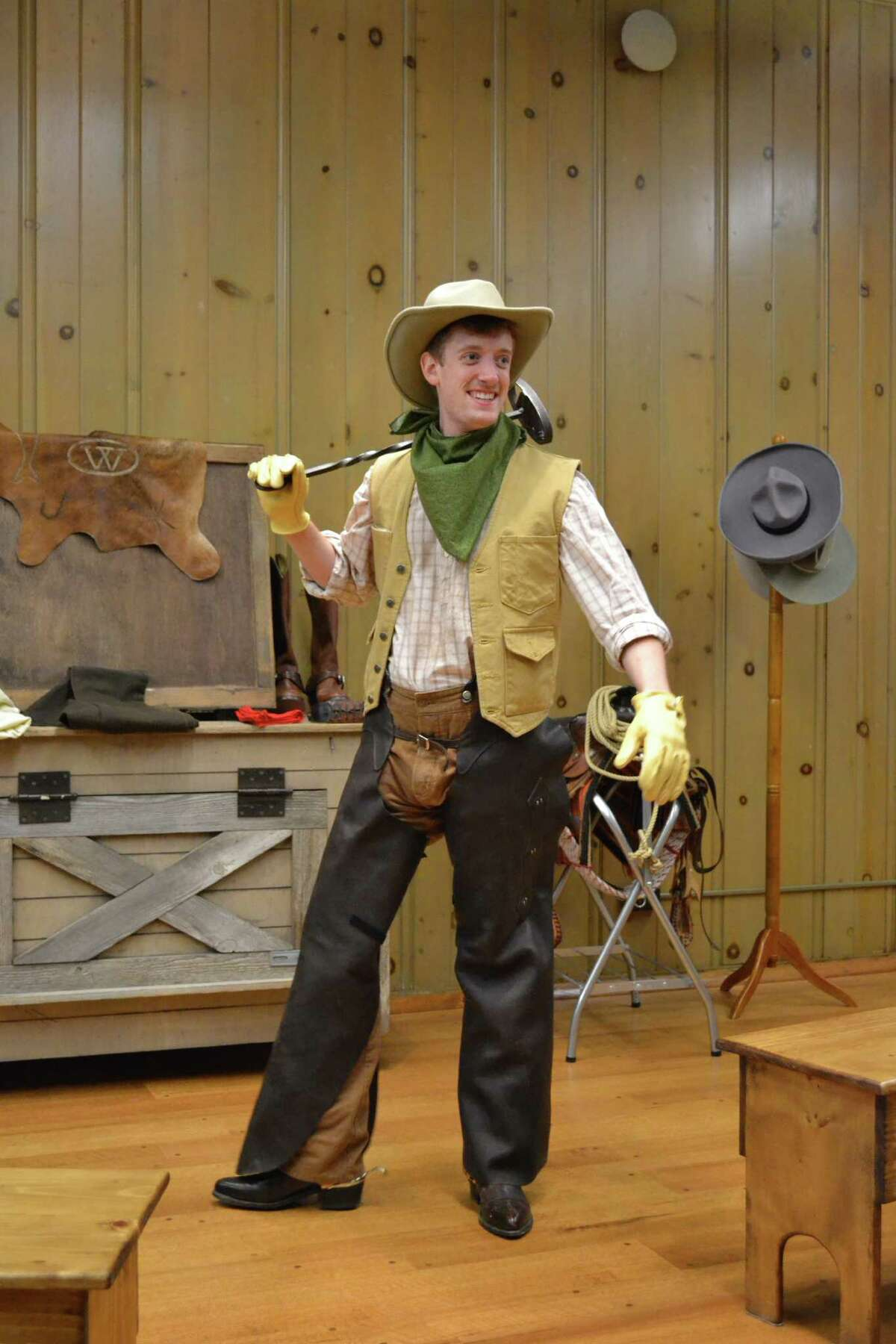 Barcus portrays a young cowboy at the Witte's South Texas Heritage Center.