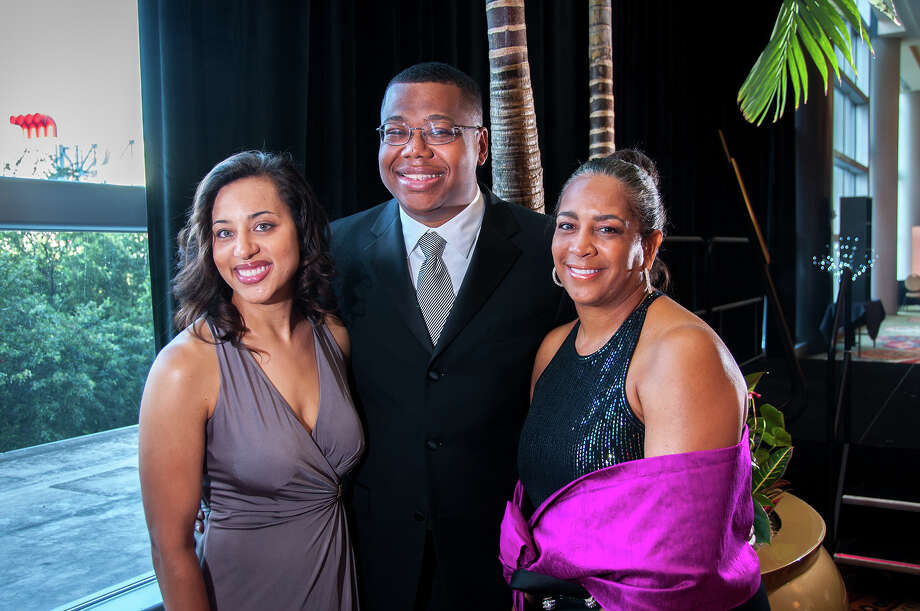 Nicole Marks, Sherman Lewis III and Vernita Harris at the 2013 Urban League Gala. Photo: Grady Carter