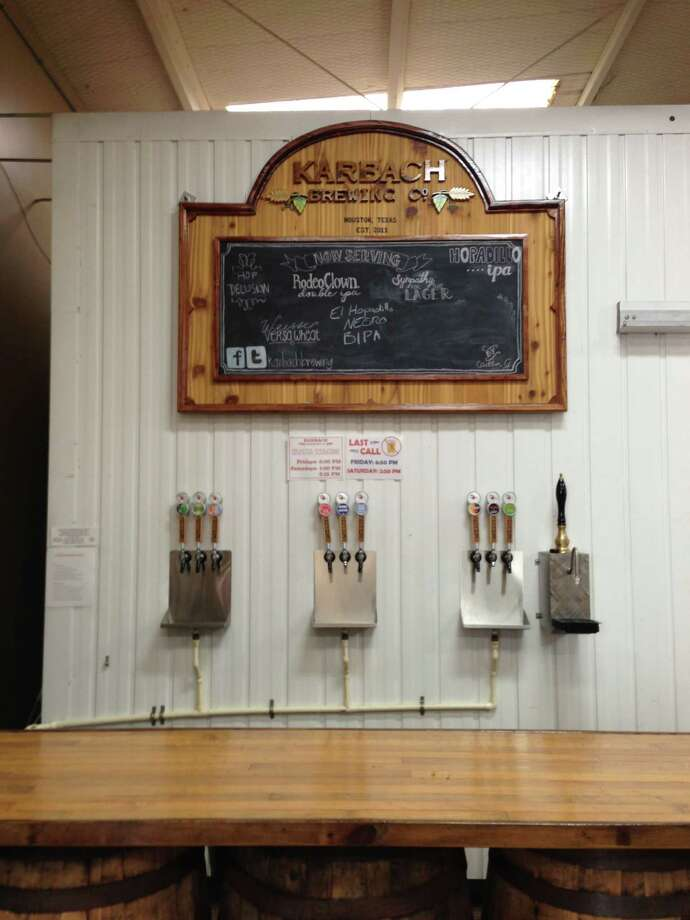 The bar at Karbach Brewing Co. is used during brewery tours. Photo: Ronnie Crocker