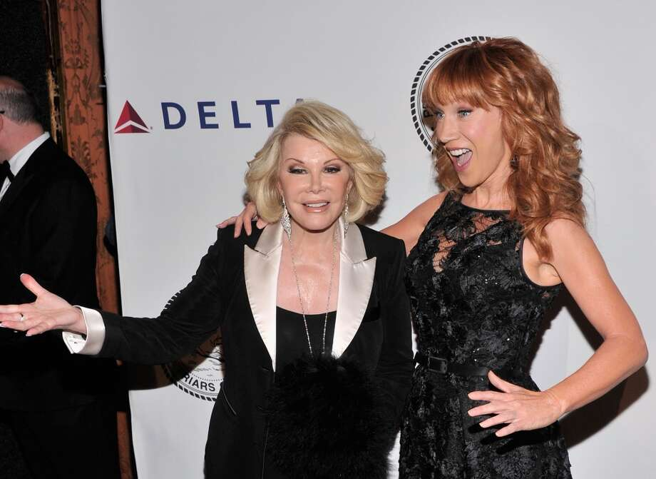 Comedians Joan Rivers and Kathy Griffin attend The Friars Foundation Annual Applause Award Gala  honoring Don Rickles at The Waldorf=Astoria on June 24, 2013 in New York City.