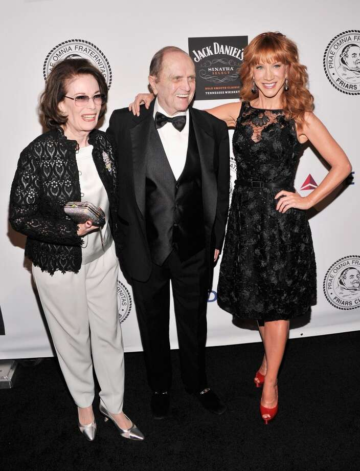 Comedian Bob Newhart (C) and Kathy Griffin (R) attend The Friars Foundation Annual Applause Award Gala  honoring Don Rickles at The Waldorf=Astoria on June 24, 2013 in New York City.