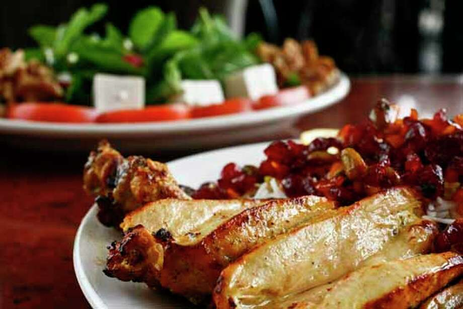 Kasra Persian GrillCuisine: Persian/IranianDish: Jujeh Kabob, a whole Cornish hen cut and marinated in a secret recipe, skewered and grilled with sour cherry riceEntree price: $$Where: 9741 WestheimerPhone: 713-975-1810Website: kasrahouston.com Photo: Michael Paulsen, Houston Chronicle / Houston Chronicle