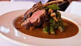 36. INDIKA: lamb chop with a lamb curry with cashews and cardamom, okra and mustard potatoe. (Eric Kayne photo)