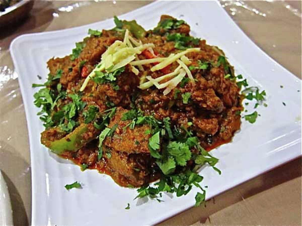 Afghani lamb karhai with ginger and cilantro at Himalaya