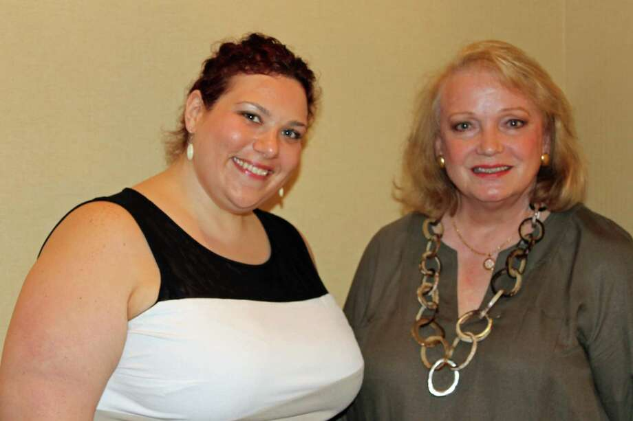 Family Centersí staff member Amanda Harmon, left, and board member Jan Dilenschneider were recognized as Family Champions by the Connecticut Council of Family Service Agencies (CCFSA) for their outstanding commitment to improving the lives of families. Photo: Contributed Photo