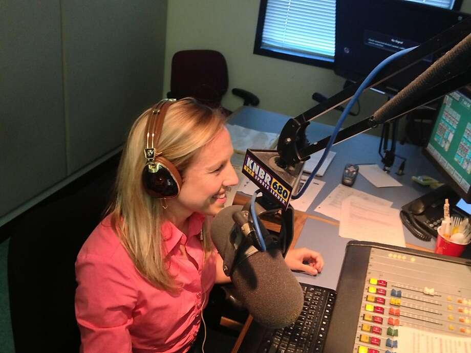 Kate Scott has been KNBR's morning sports anchor for two years. She is a lesbian in a straight-male-dominated industry. Photo: Courtesty Of Kate Scott/KNBR, Courtesty Of Kate Scott / KNBR