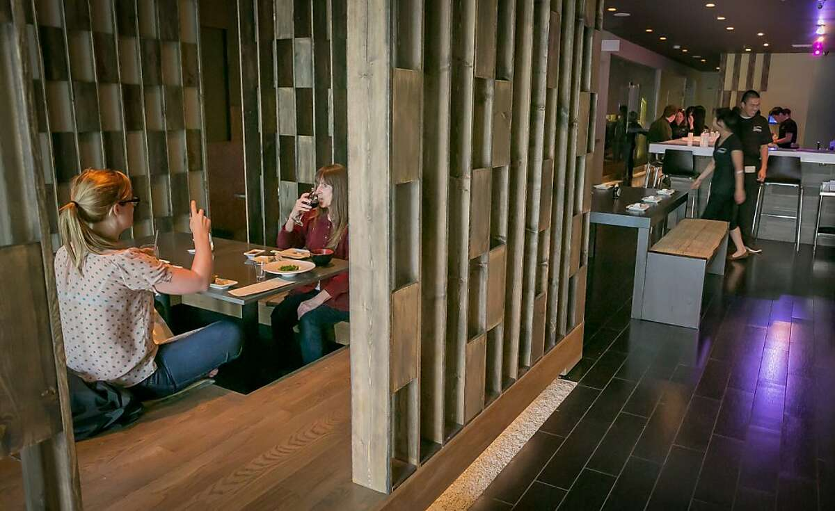 The tatami seating area of Sakesan Sushi & Bistro in San Francisco , Calif., is seen on Saturday, June 15th, 2013.