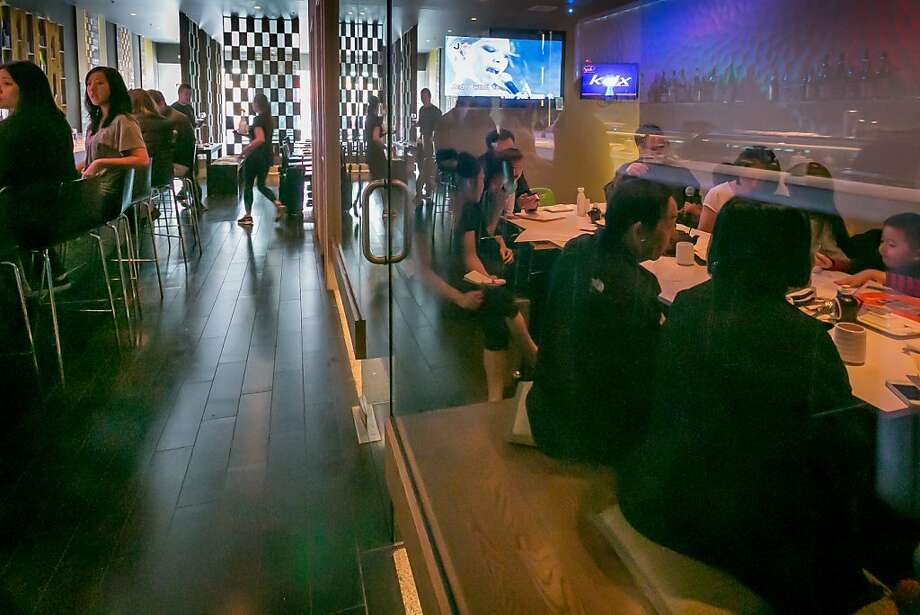At Sakesan Sushi & Bistro in the Inner Richmond, karaoke has become almost an afterthought compared with the dining and decor. Photo: John Storey, Special To The Chronicle
