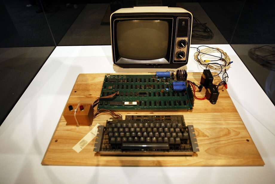 The Apple-1 is being auctioned by Christie's as part of its 'First Bytes: Iconic Technology From the Twentieth Century', online-only auction from June 24 - July 7 on Monday, June 24, 2013 in Mountain View, Calif. Photo: Rohan Smith, The Chronicle