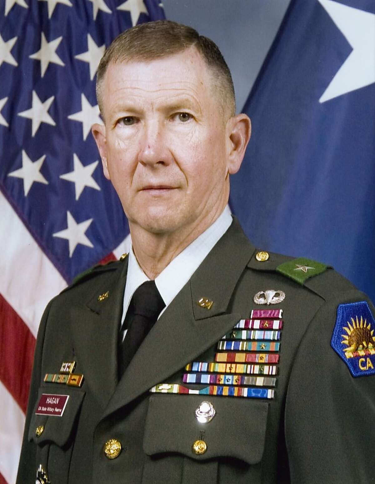 Jack Hagan, current director of the CPUC's Safety and Enforcement Division, in a photograph taken when he was Commander of the California State Military Reserve.
