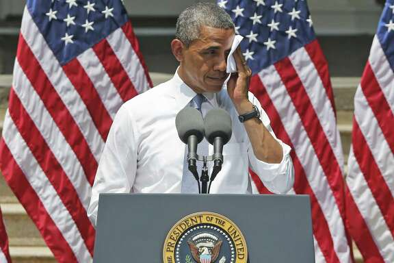 """In his speech, President Barack Obama urged quick action to combat global climate change: """"We don't have time for a meeting of the Flat Earth Society."""""""