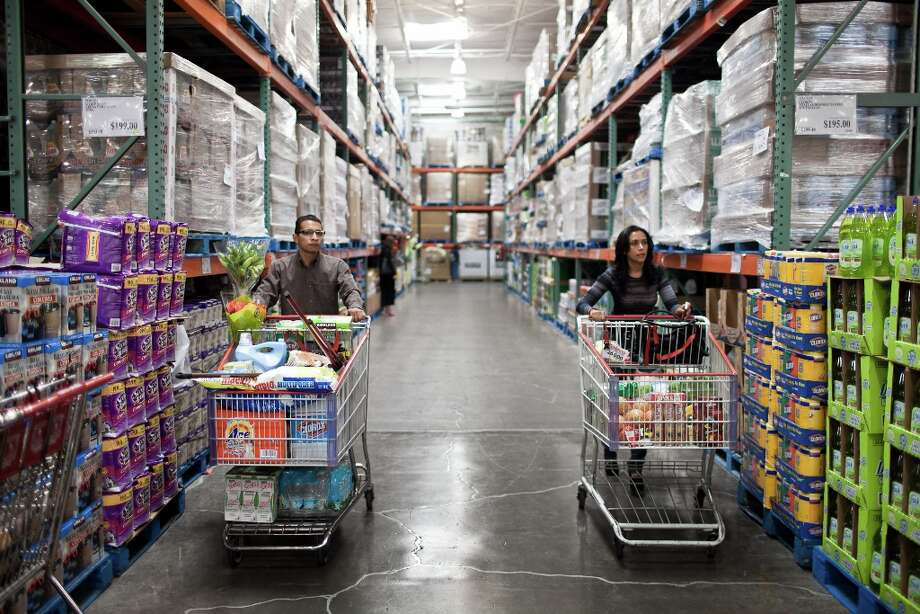 Costco's warehouses aren't pretty or elaborate; they're designed for 'economy and efficiency,' the company says. Merchandise stays on pallets, requiring less stocking labor, and stores are open fewer hours than traditional retailers, further reducing labor costs. Photo: Dominic Bracco II, Getty Images / Dominic Bracco II