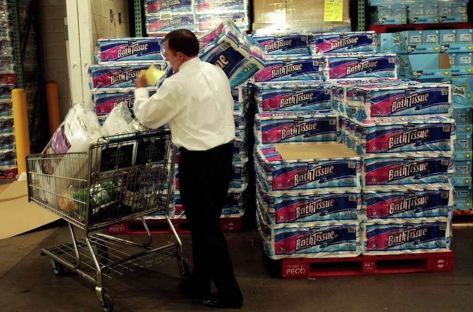 In case it wasn't obvious, Costco''s No. 1 selling product is toilet paper, CNBC reported last year in its documentary 'The Costco Craze: Inside the Warehouse Giant.' The show reported that Costco sells more than 1 billion rolls a year. Photo: Chris Hondros, Getty Images / 2008 Getty Images
