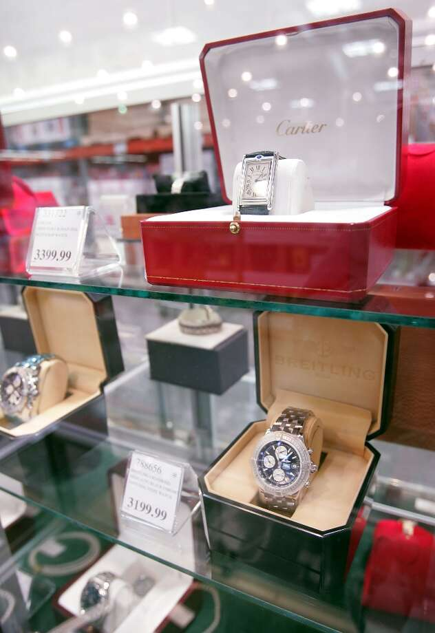 Luxury items like jewelry and watches have been big-ticket items for a while. Last year, someone bought a 5-ct. diamond ring at the Portland, Ore. Costco for $104,900. Photo: Scott Olson, Getty Images / Getty Images