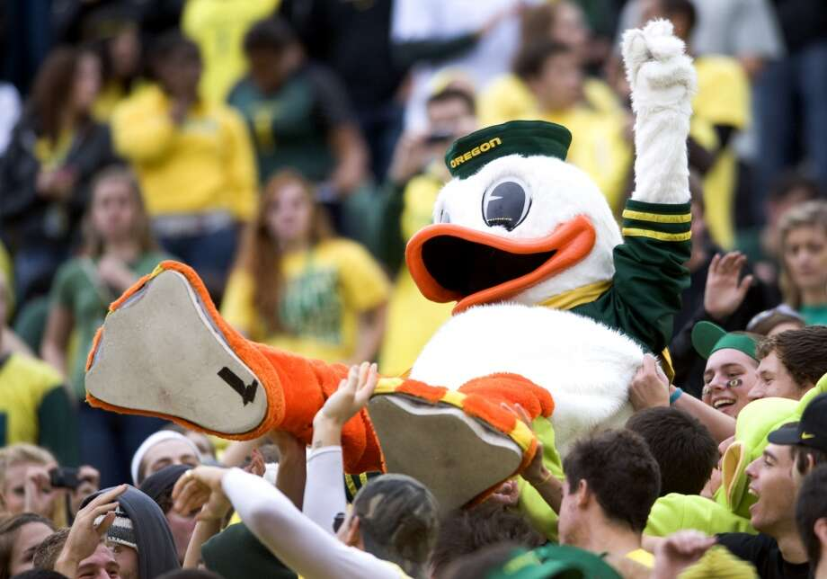 Washington Huskies vs. Oregon Ducks  Now over a century old, this battle of the borders has grown into one of college football's most storied rivalries -- at least on the West Coast. The rivalry has grown in the past 60 years as both programs have traded dominant stretches against each other. Now, the domination belongs to Oregon (winners of 11-straight meetings), but that hasn't cooled the hatred between the two fanbases. Not one bit. Photo: Steve Dykes, Getty Images