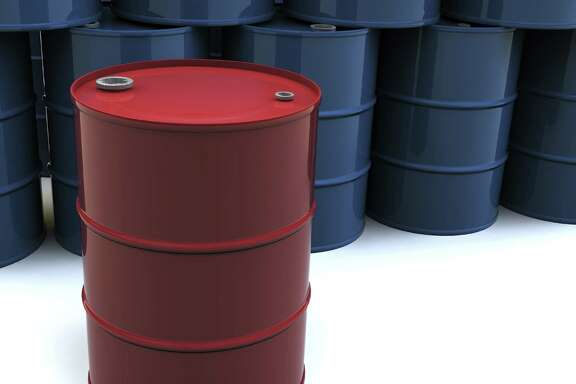 A stack of blue oil barrels with one red barrel. 3D rendering with raytraced textures and HDRI lighting. Attached file by mark evans -- purchased from istockphoto.com   OIL DRUM BARREL