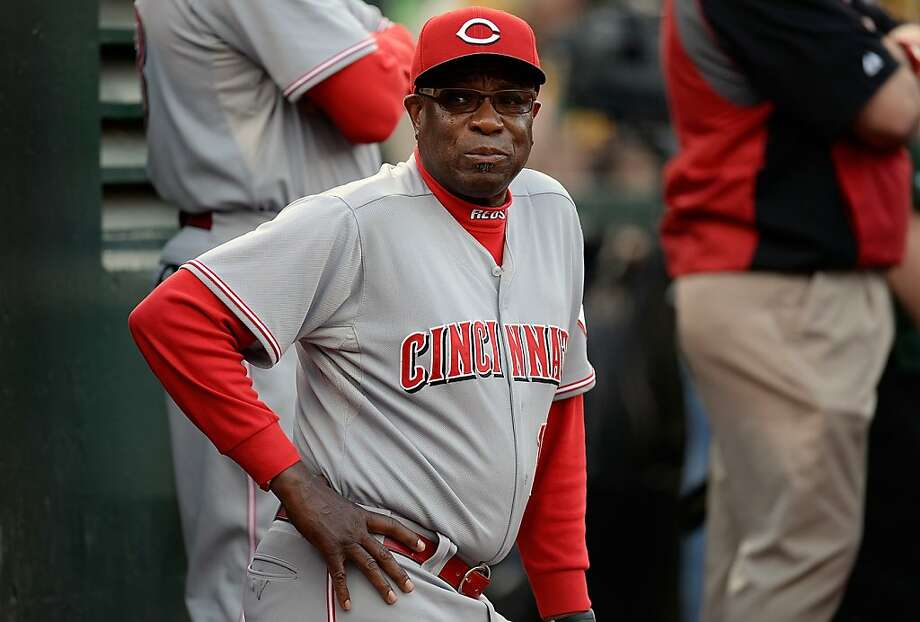 OAKLAND, CA - JUNE 25:  Manager Dusty Baker #12 of the Cincinnati Reds looks on from the dugout against the Oakland Athletics at O.co Coliseum on June 25, 2013 in Oakland, California.  (Photo by Thearon W. Henderson/Getty Images) Photo: Thearon W. Henderson, Getty Images